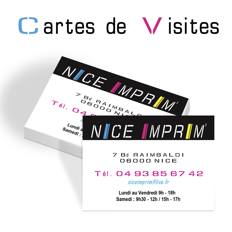 Cartes De Visite NICE IMPRIM Impression Nice Imprimer